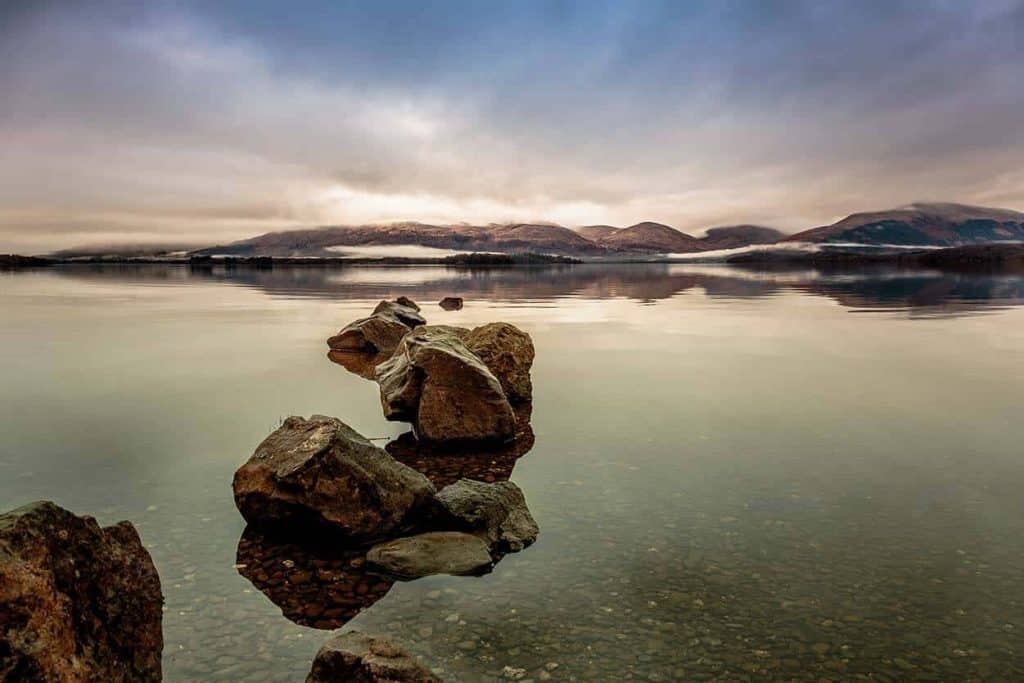 website design glasgow Mark Johnstone Photographer photo of Loch Lomond Milarrochy, Photographer and web designer